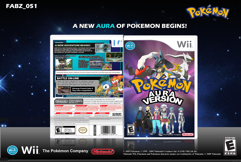Pokemon Aura Version Wii Box Art Cover By Fabz051