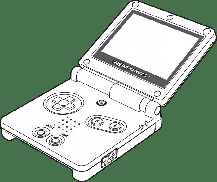 Game Boy Advance SP render