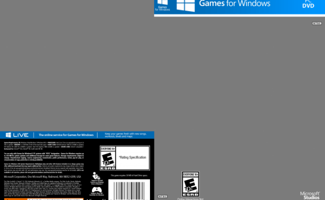 Games For Windows Template