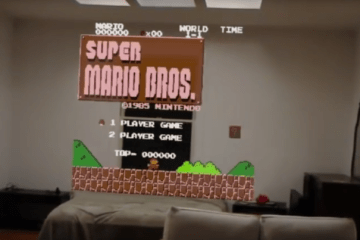 Some NES Games Made Playable on Hololens