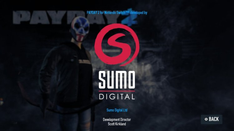 Sumo Digital Developed PayDay 2 for Switch