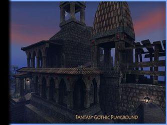 Fantasy Gothic Castle unity assets 3d models buildings