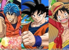 Dragon ball Z, One Piece y Toriko juntos.