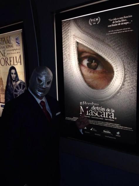 """El Hijo del Santo presentando su documental """"El Hombre detras de la Mascara"""""""