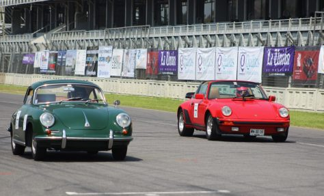 Porsche en acción en el Autódromo Hermanos Rodríguez