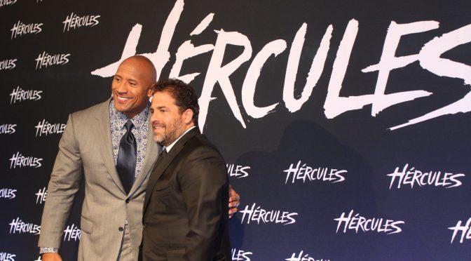 Alfombra roja y conferencia de prensa de 'Hércules' con Dwayne Johnson y Brett Ratner
