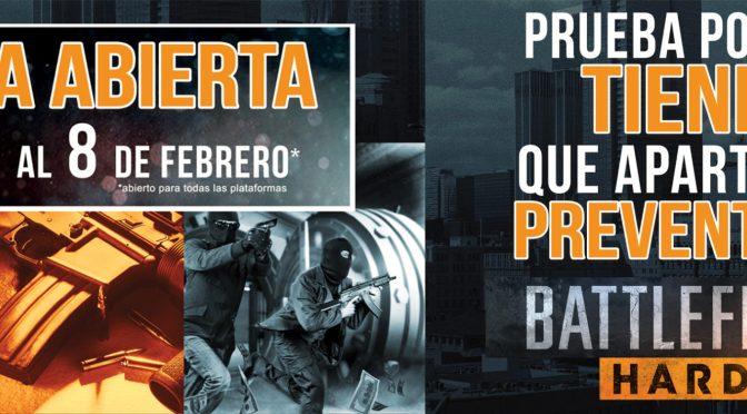 La beta abierta de Battlefield Hardline comienza el 3 de febrero