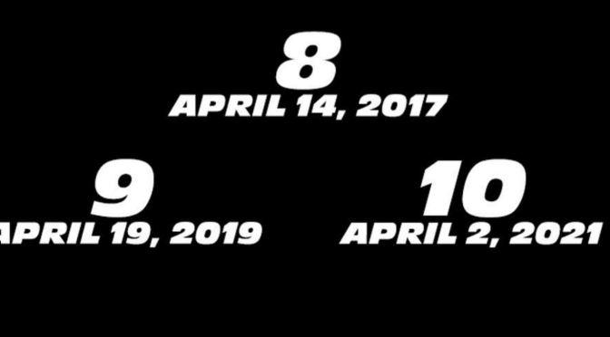 Vin Diesel ha confirmado fechas de estreno para Rápidos y Furiosos 8, 9 y 10