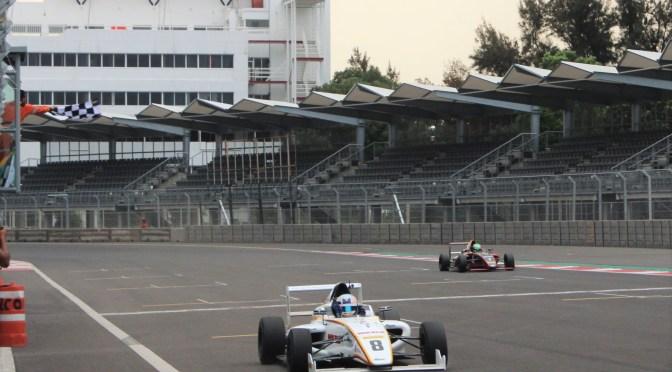 Axel Matus gana primera carrera de la Fórmula 4 NACAM Ciudad de México