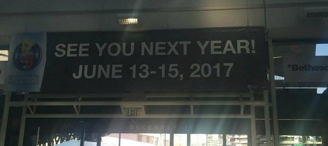 [E3 2106] Se termina otro E3, pero puedes ir anotando los días que se realizará el siguiente año