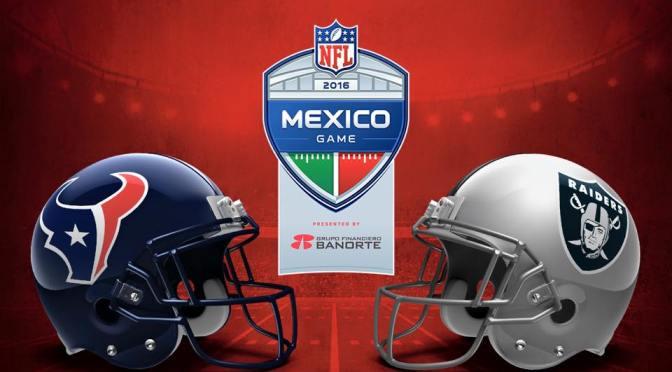 Los boletos para el duelo entre Oakland Raiders y Houston Texans costarán entre 550 y hasta los 6,050 pesos