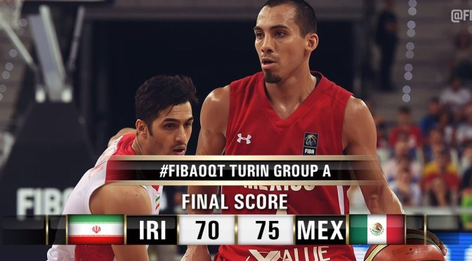 México derrota 75-70 a Irán en su 1er duelo clasificatorio rumbo a Brasil 2016