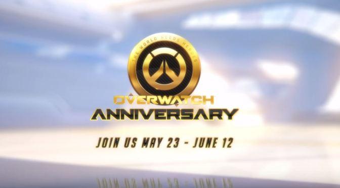 """<span class=""""entry-title-primary"""">El evento de aniversario de Overwatch comienza el 23 de mayo</span> <span class=""""entry-subtitle"""">Gracias, Héroes</span>"""