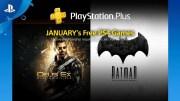 Los juegos de PlayStation Plus de enero incluyen Deus Ex y Batman