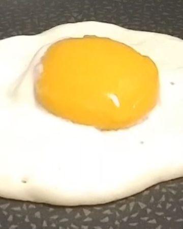 vegan fried egg, served warm