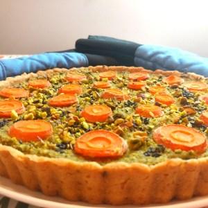 broccoli quiche with pistachio and carrot recipe
