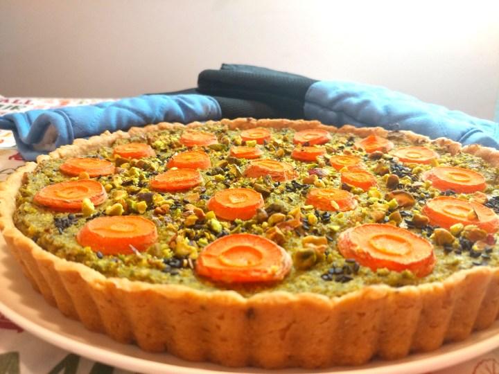 Broccoli Quiche With Pistachio and Carrot