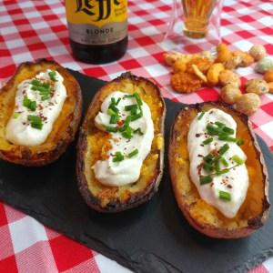 Recipe Vegan Band and Cheddar Potato Skins