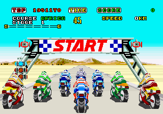 Sega Super Hang On Start