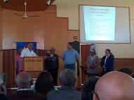 Br. Salie, Streek 21 voorsitter, verwelkom CAB lede tydens die konferensie te VGK Strand.