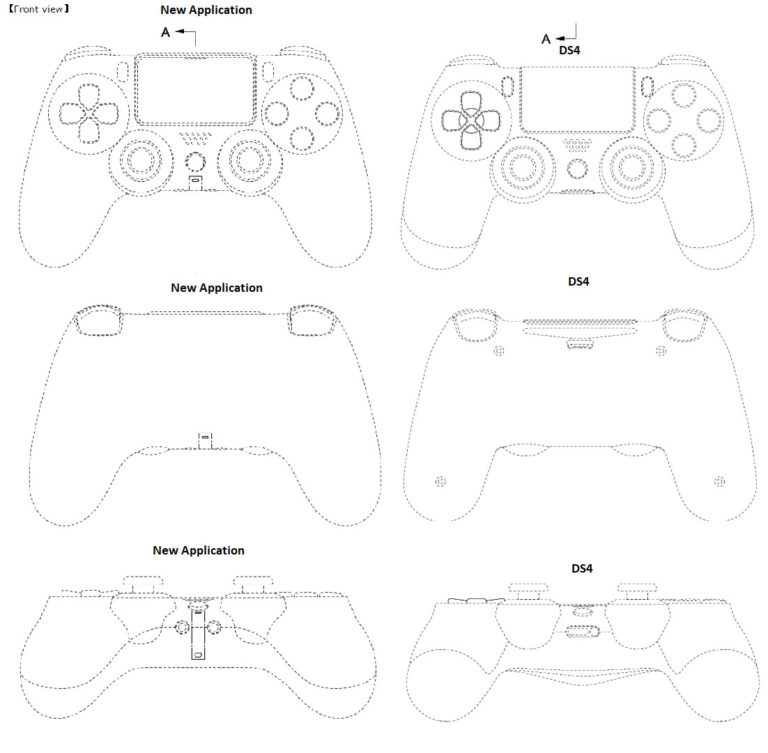 dualshock 5 PS5 controller appears in patent images | VGLeaks 2.0