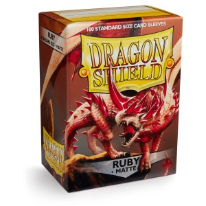 Dragon Shield: Matte Ruby (100) Protective Sleeves