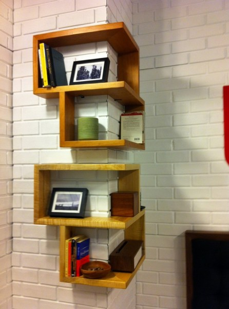 corner wall shelf wood