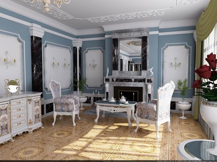 Дизайн стен в гостиной в разных вариантах. Декорирование и украшение стены в зале