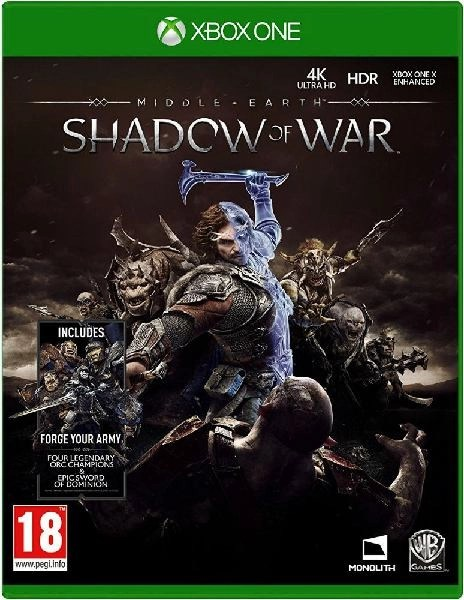 Middle Earth Shadow of War Xbox One cover
