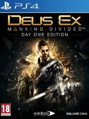 Deus Ex Mankind Divided Playstation 4 cover