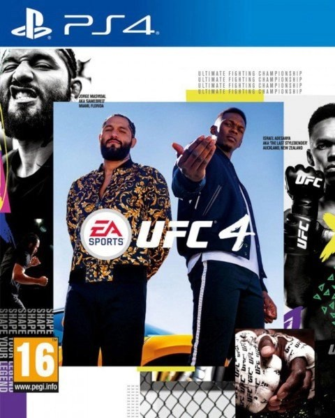 UFC 4 Playstation 4 cover