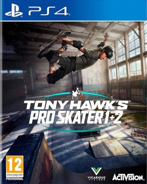 Tony Hawk's Pro Skater 1 + 2 Playstation 4 cover