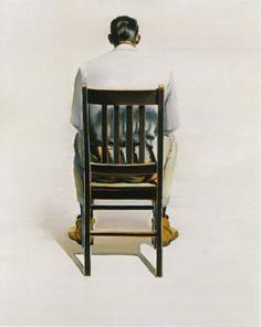 """Man Sitting — Back View"" (1964) Wayne Thiebaud"
