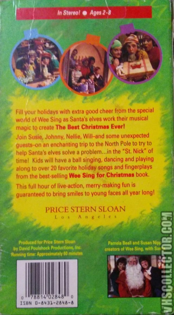 Wee Sing The Best Christmas Ever Vhs.Wee Sing Vhs 1990 Year Of Clean Water