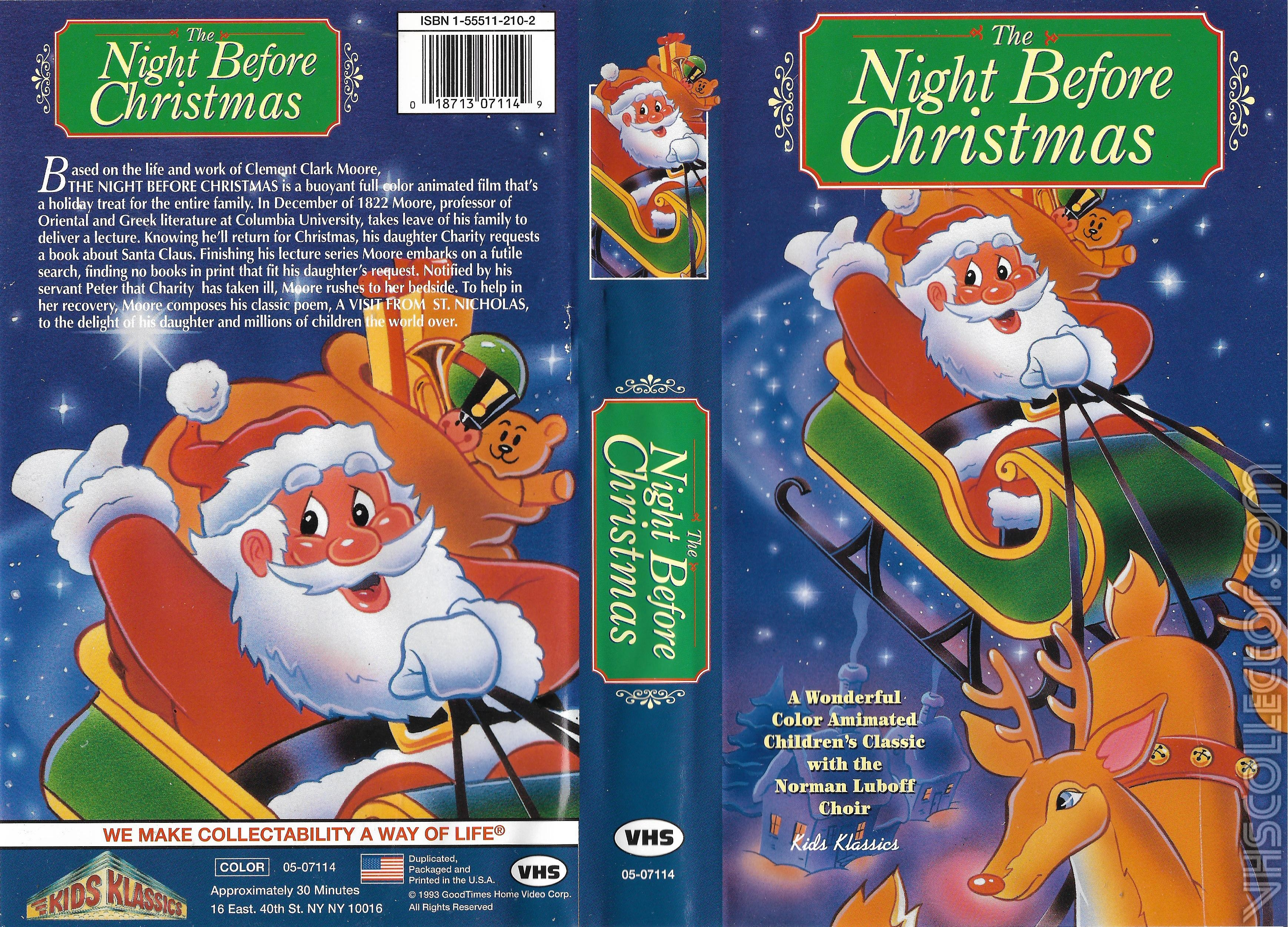 The Night Before Christmas Vhscollector Com