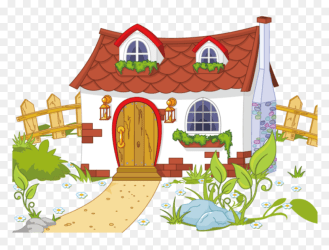 House With Garden Clipart Transparent Cartoons Cute Cottage House Cartoon HD Png Download vhv