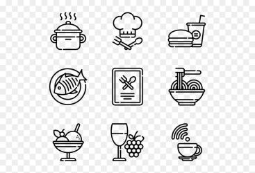 White line Transparent Background Restaurant Icon HD Png Download vhv