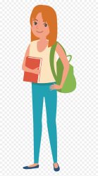 Student Clip Art Animated College Student Png Transparent Png vhv