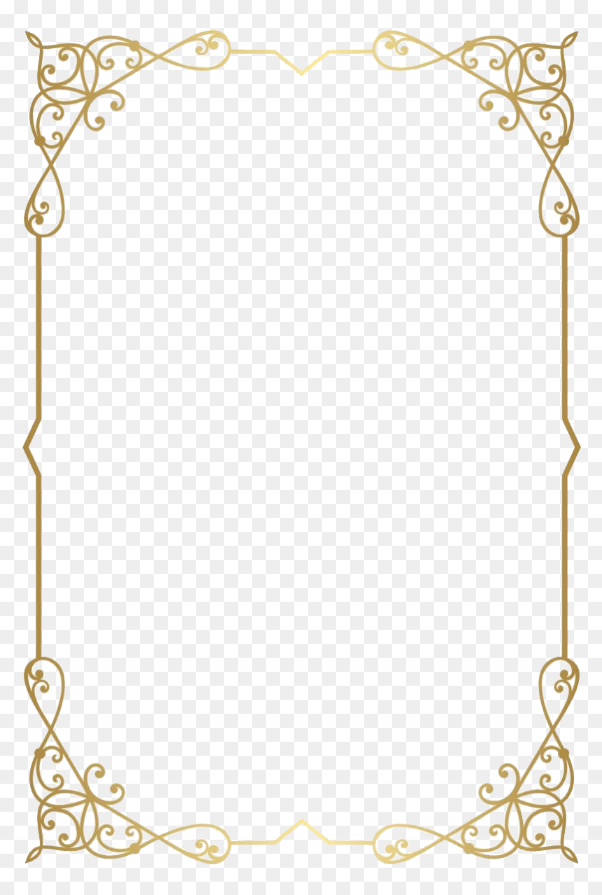 Gold Border Transparent Background : border, transparent, background, Retro, Decorative, Frame, Download, Transparent, Background, Border