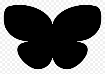 Clipart Butterfly Silhouette Simple Butterfly Silhouette HD Png Download vhv