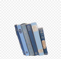 Blue Books Aesthetic Png Transparent Png vhv