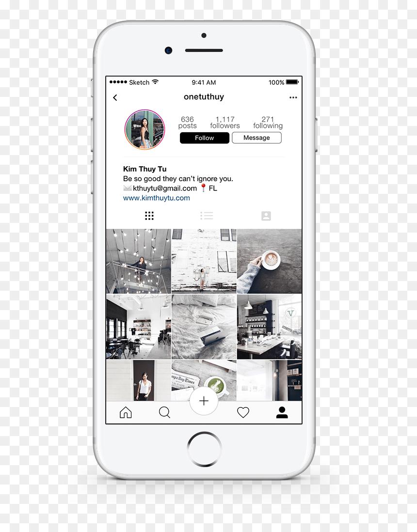 Instagram White Png : instagram, white, Profile, Iphone, Instagram, White, Transparent