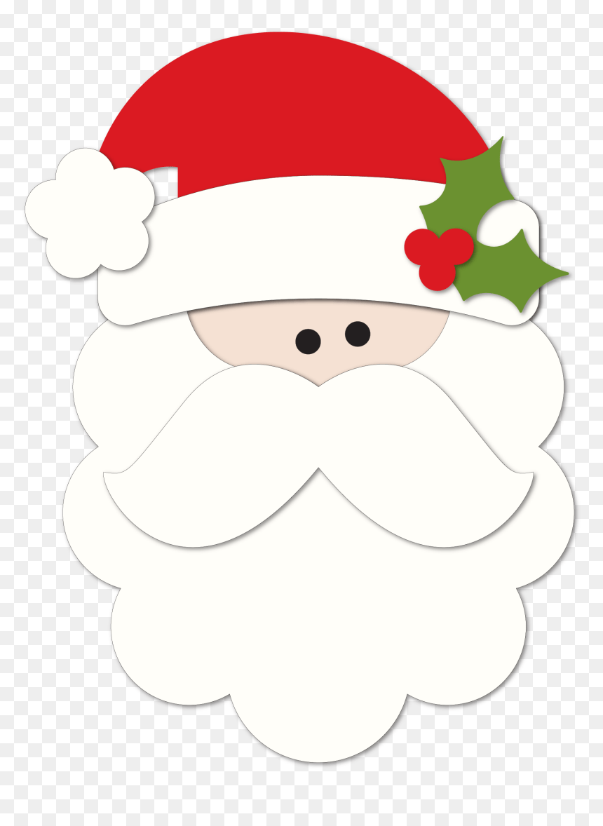 Cartoon Santa Face : cartoon, santa, Santa, Cartoon,, Download