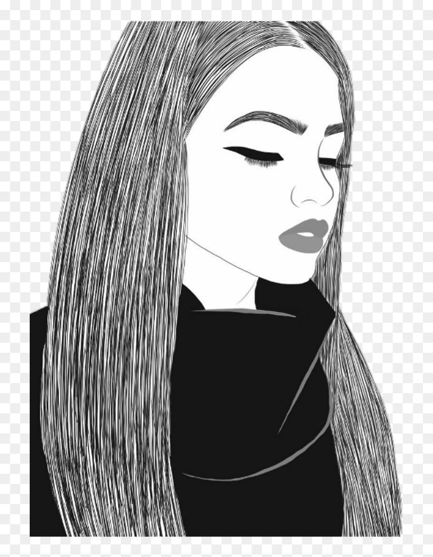 Tumblr Girl Drawing : tumblr, drawing, Outlines, Tumblr, Drawing, Ones,, Download