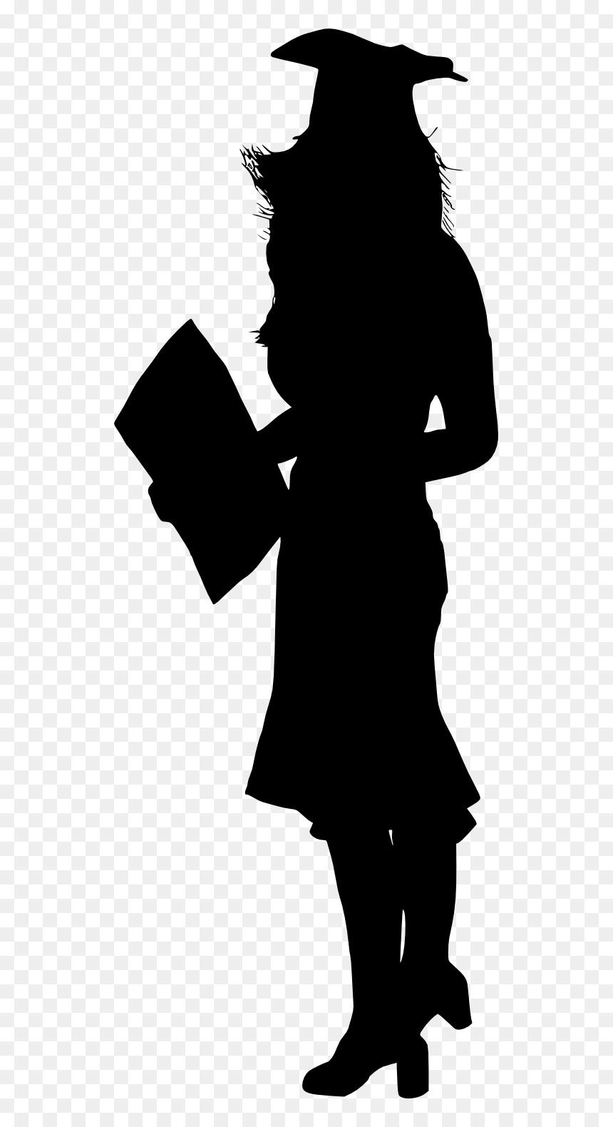 Graduation Silhouette Girl : graduation, silhouette, Graduation, Silhouette, Transparent