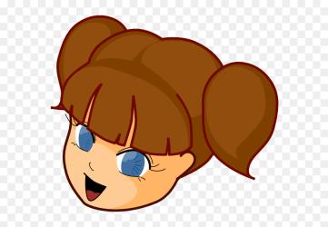Girl Brown Hair Svg Clip Arts Cute Girls Face Cartoon HD Png Download vhv