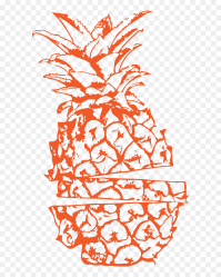 Transparent Pineapple Outline Png Pineapple Black And White Png Download vhv