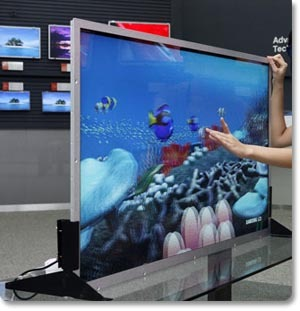 Samsung advanced LCD display 55inch 3D Screen