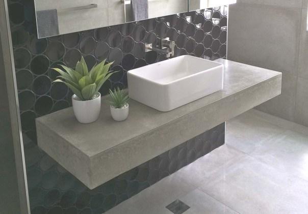kệ lavabo bằng bê tông nhẹ cho khu vực rửa mặt trong phòng tắm