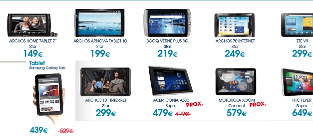 Ofertas en tablets en The Phone House para Abril del 2011